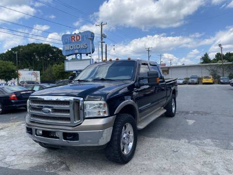 2007 Ford F-250 Super Duty for sale at RD Motors, Inc in Charlotte NC