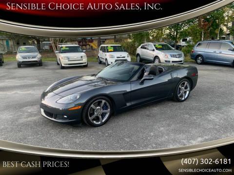 2009 Chevrolet Corvette for sale at Sensible Choice Auto Sales, Inc. in Longwood FL