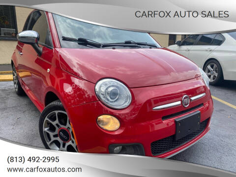 2012 FIAT 500 for sale at Carfox Auto Sales in Tampa FL