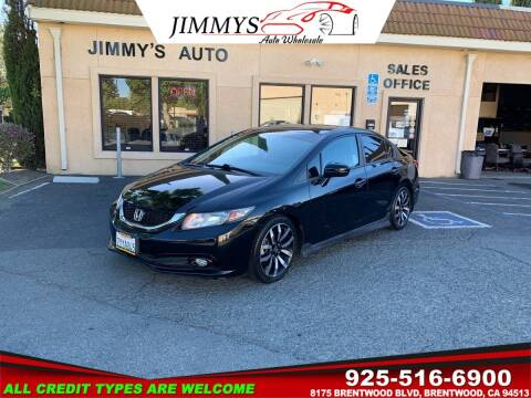 2015 Honda Civic for sale at JIMMY'S AUTO WHOLESALE in Brentwood CA