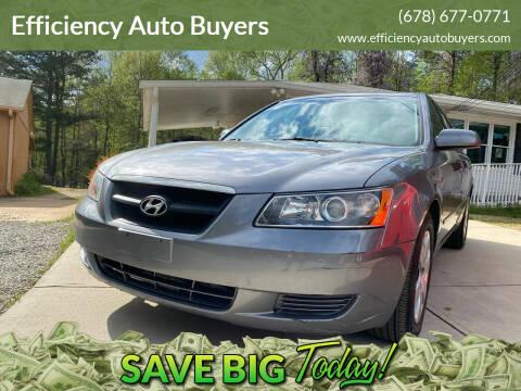2008 Hyundai Sonata for sale at Efficiency Auto Buyers in Milton GA