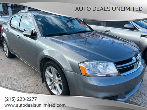 2012 Dodge Avenger for sale at AUTO DEALS UNLIMITED in Philadelphia PA