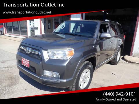 2011 Toyota 4Runner for sale at Transportation Outlet Inc in Eastlake OH