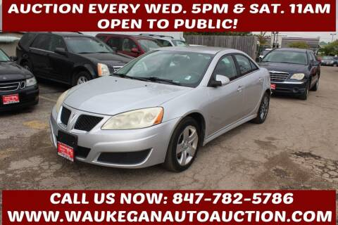 2010 Pontiac G6 for sale at Waukegan Auto Auction in Waukegan IL