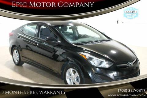 2014 Hyundai Elantra for sale at Epic Motor Company in Chantilly VA