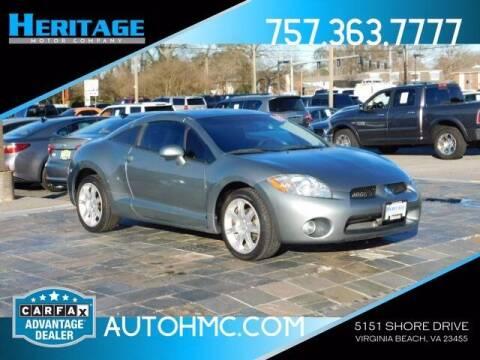 2008 Mitsubishi Eclipse for sale at Heritage Motor Company in Virginia Beach VA