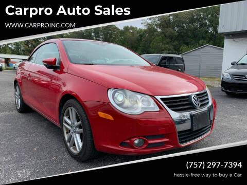 2009 Volkswagen Eos for sale at Carpro Auto Sales in Chesapeake VA