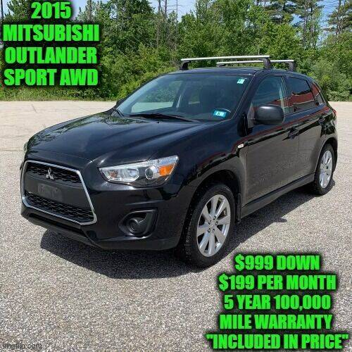 2015 Mitsubishi Outlander Sport for sale at D&D Auto Sales, LLC in Rowley MA