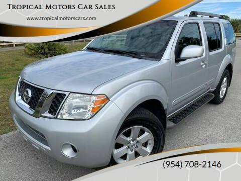 2010 Nissan Pathfinder for sale at Tropical Motors Car Sales in Deerfield Beach FL