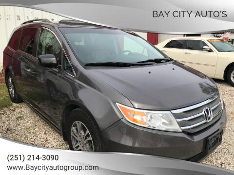 2012 Honda Odyssey for sale at Bay City Auto's in Mobile AL