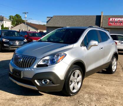 2016 Buick Encore for sale at Stephen Motor Sales LLC in Caldwell OH