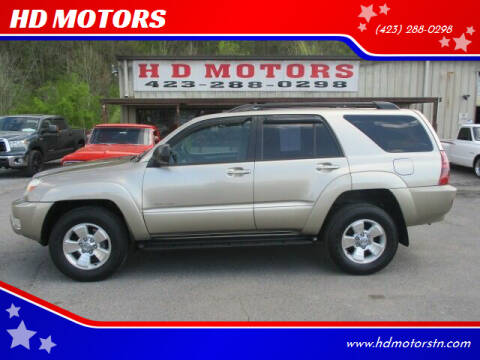 2005 Toyota 4Runner for sale at HD MOTORS in Kingsport TN