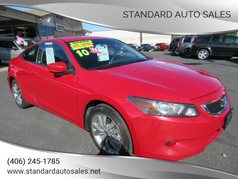 2010 Honda Accord for sale at Standard Auto Sales in Billings MT