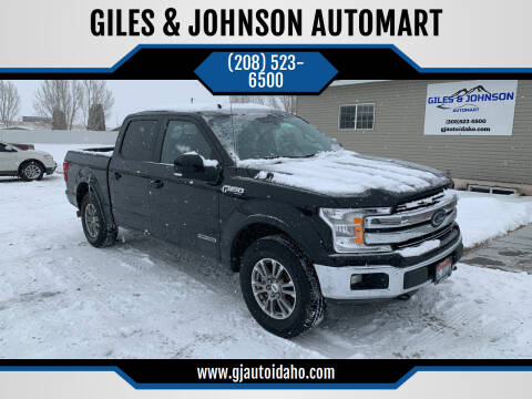 2018 Ford F-150 for sale at GILES & JOHNSON AUTOMART in Idaho Falls ID