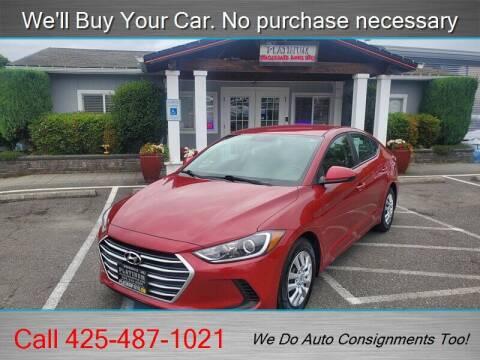 2017 Hyundai Elantra for sale at Platinum Autos in Woodinville WA