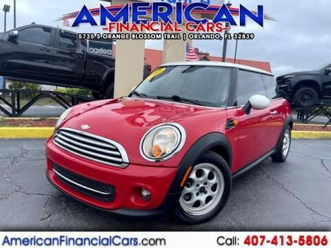 2012 MINI Cooper Hardtop for sale at American Financial Cars in Orlando FL