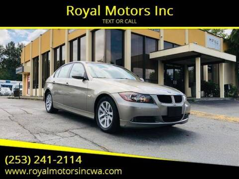 2007 BMW 3 Series for sale at Royal Motors Inc in Kent WA
