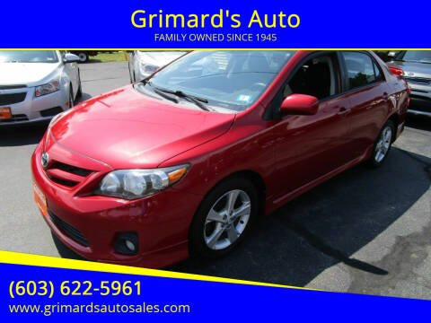 2011 Toyota Corolla for sale at Grimard's Auto in Hooksett NH