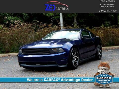 2012 Ford Mustang for sale at Zed Motors in Raleigh NC