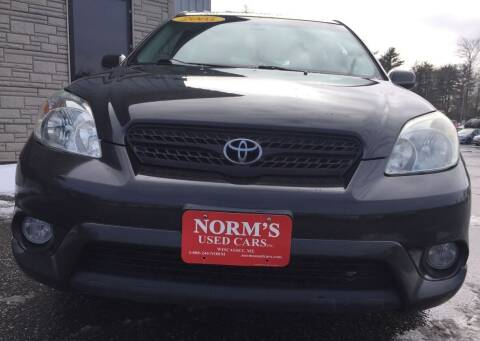 2005 Toyota Matrix for sale at NORM'S USED CARS INC in Wiscasset ME