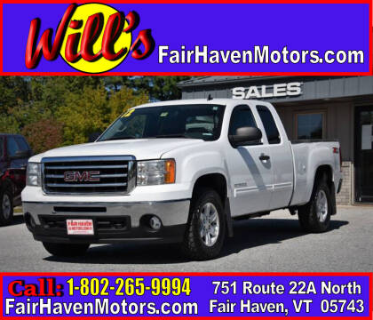 2012 GMC Sierra 1500 for sale at Will's Fair Haven Motors in Fair Haven VT