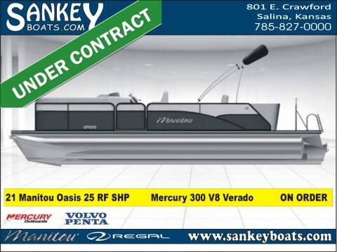 2021 Manitou 25 Oasis Bar SHP for sale at SankeyBoats.com in Salina KS