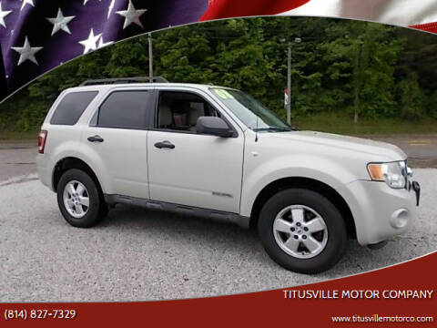 2008 Ford Escape for sale at Titusville Motor Company in Titusville PA