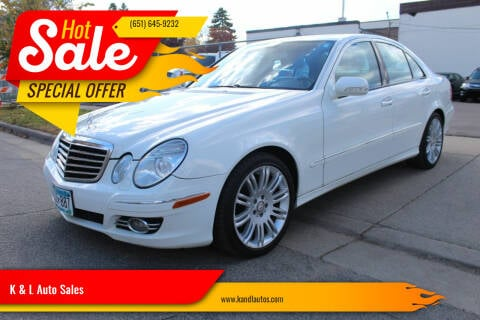 2008 Mercedes-Benz E-Class for sale at K & L Auto Sales in Saint Paul MN