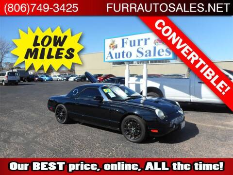 2002 Ford Thunderbird for sale at FURR AUTO SALES in Lubbock TX