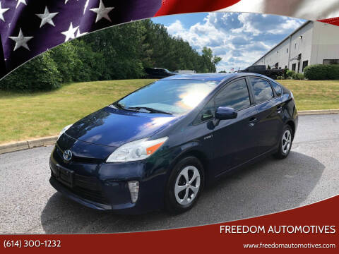 2012 Toyota Prius for sale at Freedom Automotives in Grove City OH