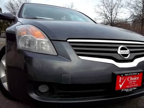 2009 Nissan Altima for sale at 1st Choice Auto Sales in Fairfax VA