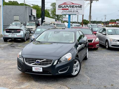 2013 Volvo S60 for sale at Supreme Auto Sales in Chesapeake VA