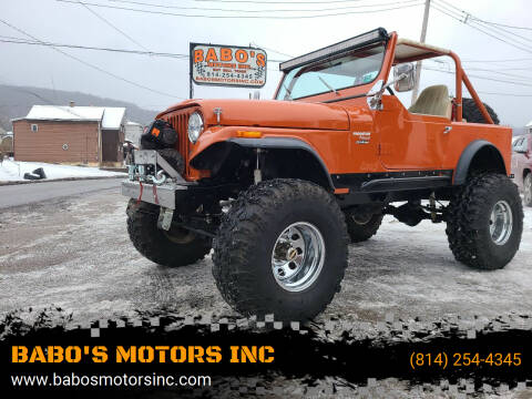 1976 Jeep CJ-7 for sale at BABO'S MOTORS INC in Johnstown PA