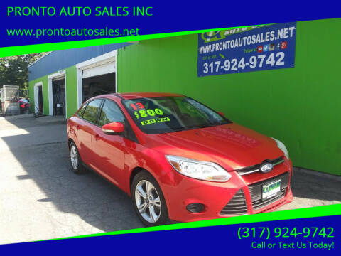 2013 Ford Focus for sale at PRONTO AUTO SALES INC in Indianapolis IN