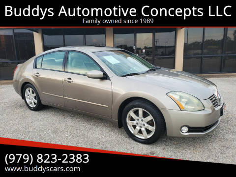2004 Nissan Maxima for sale at Buddys Automotive Concepts LLC in Bryan TX