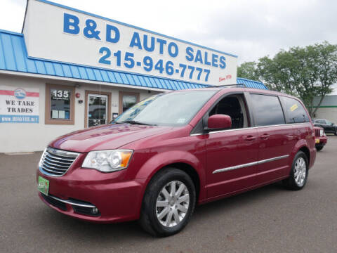 2013 Chrysler Town and Country for sale at B & D Auto Sales Inc. in Fairless Hills PA