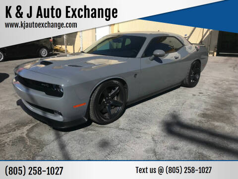 2018 Dodge Challenger for sale at K & J Auto Exchange in Santa Paula CA