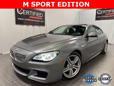 2017 BMW 6 Series for sale at CERTIFIED AUTOPLEX INC in Dallas TX