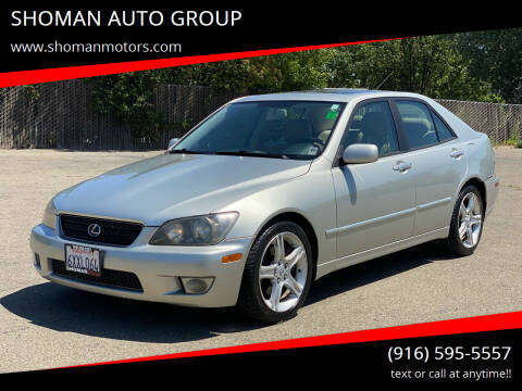 2004 Lexus IS 300 for sale at SHOMAN AUTO GROUP in Davis CA