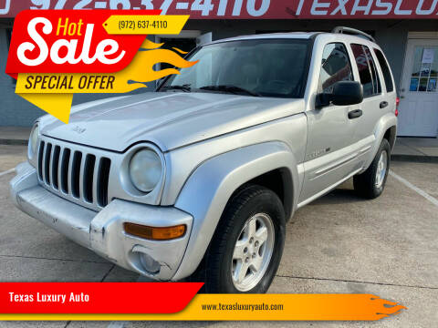 2002 Jeep Liberty for sale at Texas Luxury Auto in Cedar Hill TX