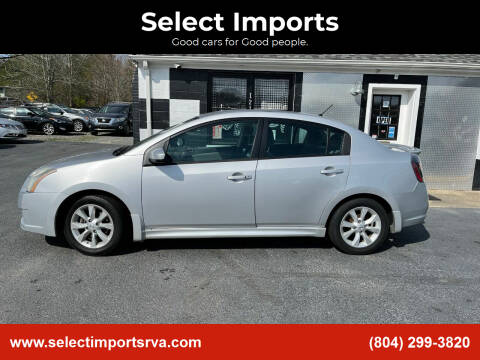 2011 Nissan Sentra for sale at Select Imports in Ashland VA