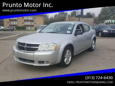 2008 Dodge Avenger for sale at Prunto Motor Inc. in Dearborn MI