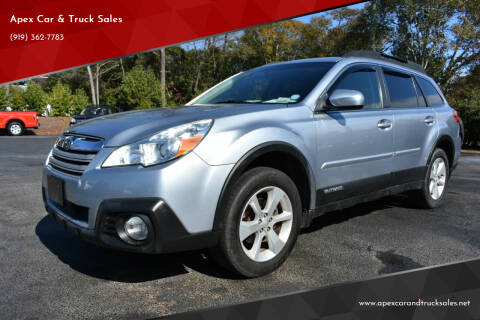 2014 Subaru Outback for sale at Apex Car & Truck Sales in Apex NC