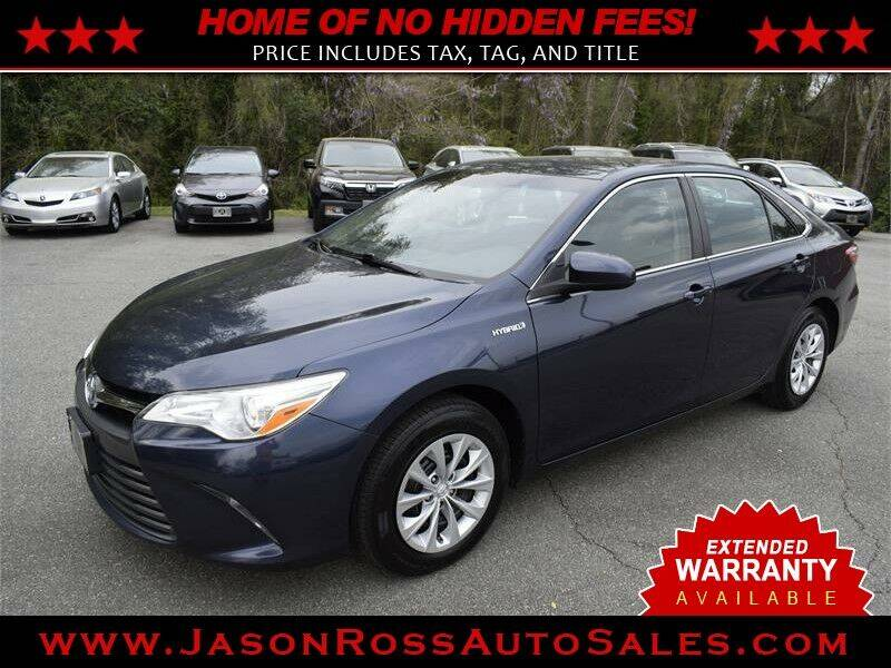 2016 Toyota Camry Hybrid for sale at Jason Ross Auto Sales in Burlington NC