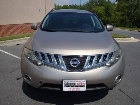 2009 Nissan Murano for sale at Source Auto Group in Lanham MD