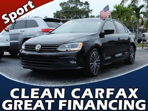 2016 Volkswagen Jetta for sale at Palm Beach Auto Wholesale in Lake Park FL