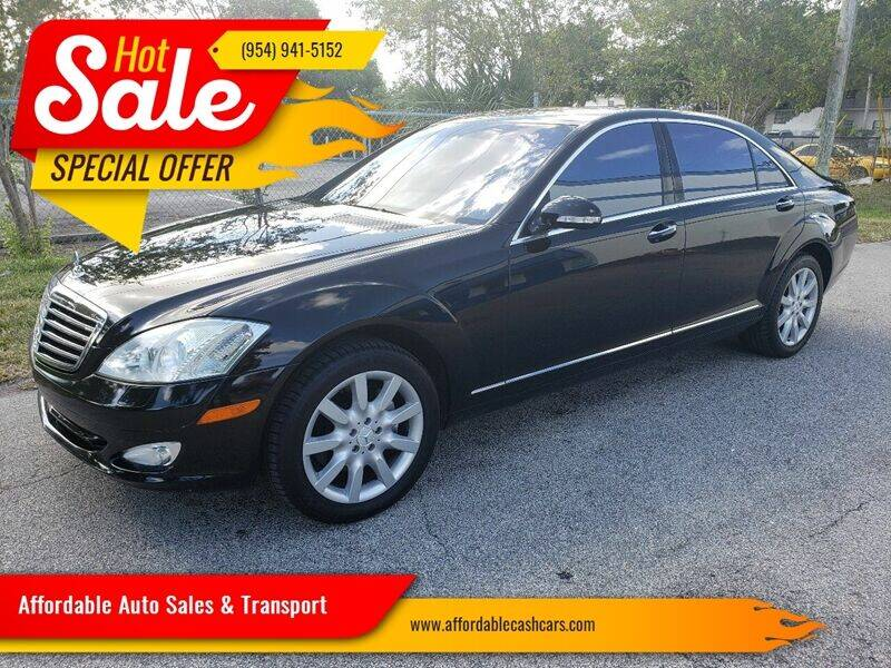 2007 Mercedes-Benz S-Class for sale at Affordable Auto Sales & Transport in Pompano Beach FL