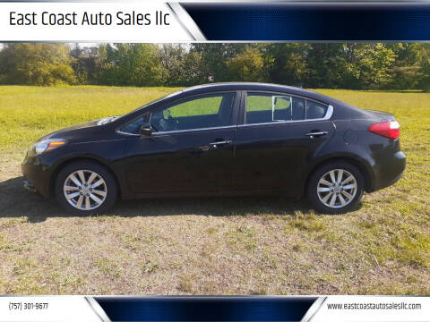 2014 Kia Forte for sale at East Coast Auto Sales llc in Virginia Beach VA
