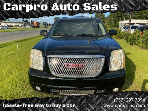 2007 GMC Yukon for sale at Carpro Auto Sales in Chesapeake VA