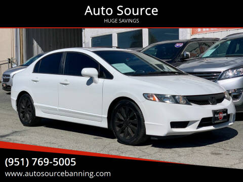 2010 Honda Civic for sale at Auto Source in Banning CA